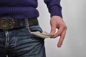 poche vides pas d'argent